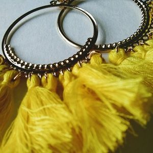 Jewelry - New Bright Yellow Hot Long Sexy Tassel Earrings